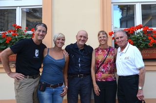 Peggy Timmerman and friends on the Prague to Vienna bike tour with Trek Travel.