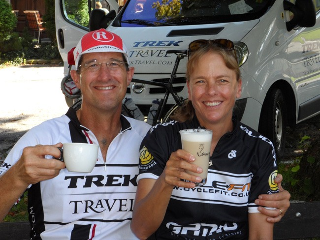 Trek Travel guests cycling in Czech Republic and Austria