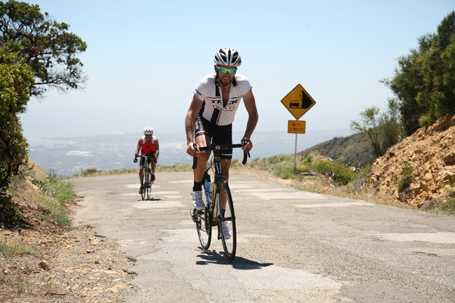 Trek Travel cycling guide Greg Lyeki riding in California