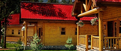 Baker Creek Chalets on our Canadian Rockies bike tours