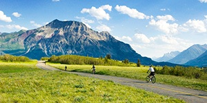 Glacier family biking trips with Trek Travel