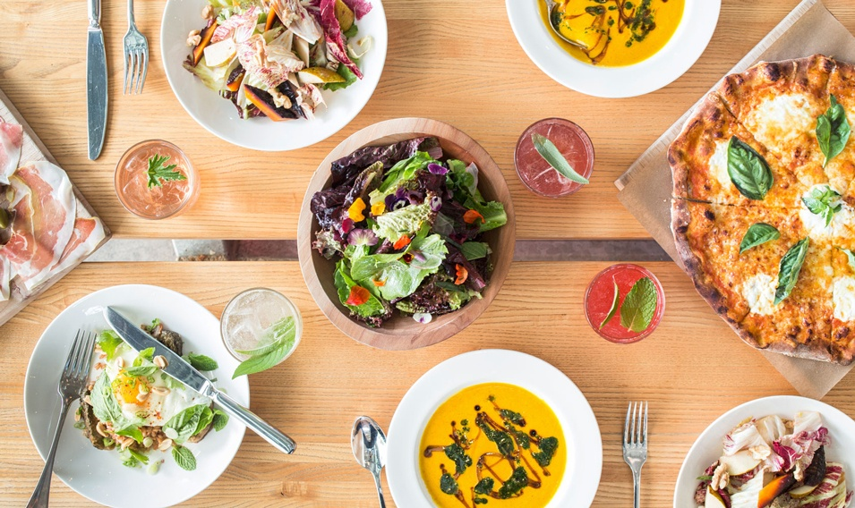 Fresh farm-to-table food at Healdsburg SHED on Trek Travel's california wine country bike tour