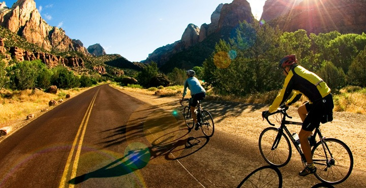 Ride through the vast rocky landscapes of Utah on Trek Travel's Bryce and Zion bike tour