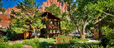 Stay at Flanigan's on a Trek Travel bike tour in Zion National Park