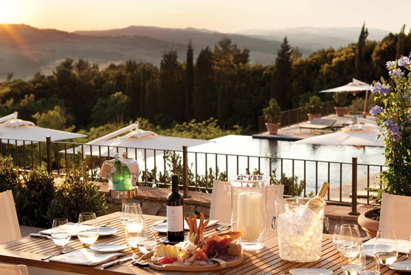 Stay at the luxury hotel Castello di Casole on a Tuscany luxury bike tour