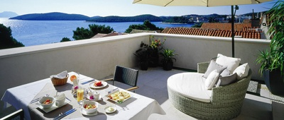 Stay at Lesic Dimitri Palace on our Croatia & Dalmatian Coast Bike Tour