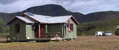 Stay at the Alftavatn Hut on Trek Travel's Iceland Mountain Bike trip