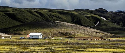 Stay at the Hungurfit Hut on Trek Travel's Iceland Mountain Bike trip
