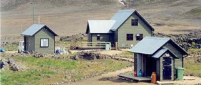 Stay at the Hvanngil Hut on Trek Travel's Iceland Mountain Bike trip