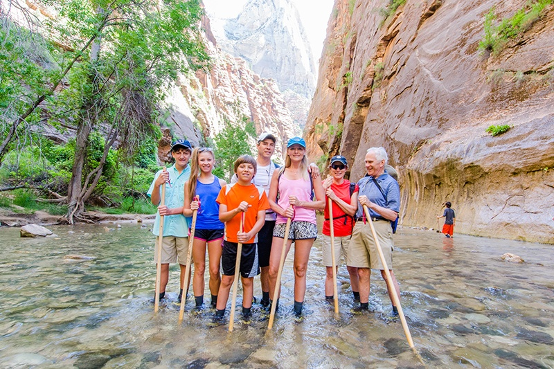 Trek Travel Zion National Park 4 day weekend Family bike tour