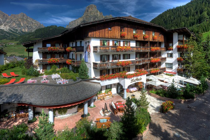 Introducing Hotel La Perla on our Classic Climbs of the Dolomites bike tour