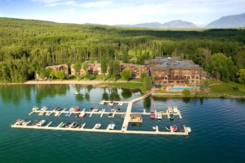 Stay at the Lodge at Whitefish Lake on our Glacier National Park bike tour