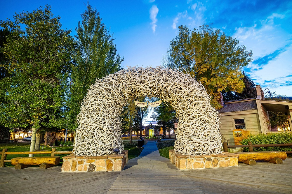 Visit Jackson Hole, Wyoming on Trek Travel's Yellowstone and Grand Tetons Bike Tour
