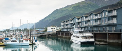 Stay at Harbor 360 Hotel on an Alaska multisport bike tour