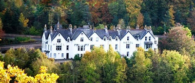 Stay at the Craigellachie Hotel on a Trek Travel Scotland Bike Tour