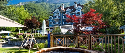 Stay at the Relais and Chateau hotel Yoanne Conte on a Trek Travel cycling vacation